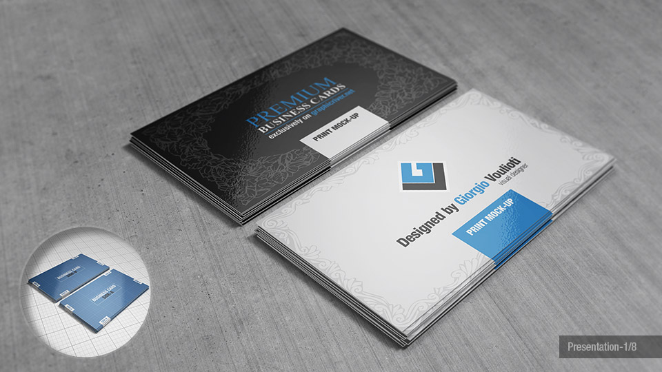 Premium Business Cards Mock Ups