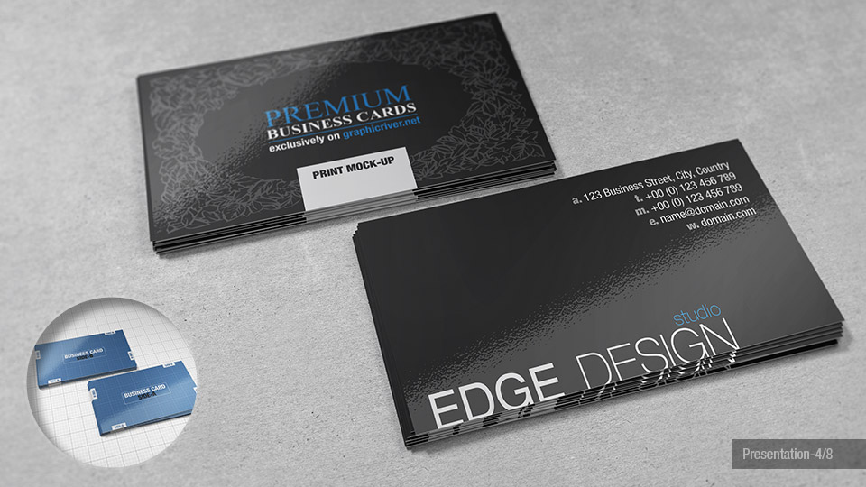 Fine ups business card ideas business card ideas etadamfo premium business cards mock ups giorgio voulioti reheart Image collections