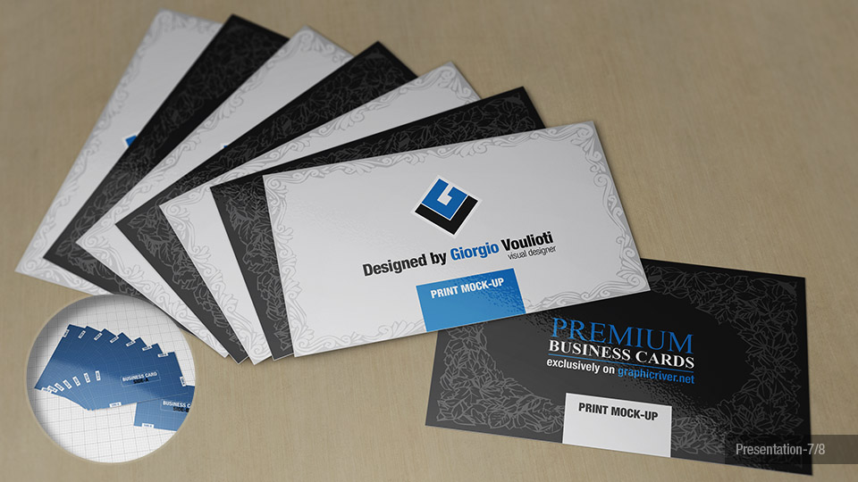 Premium Business Cards Mock-Ups