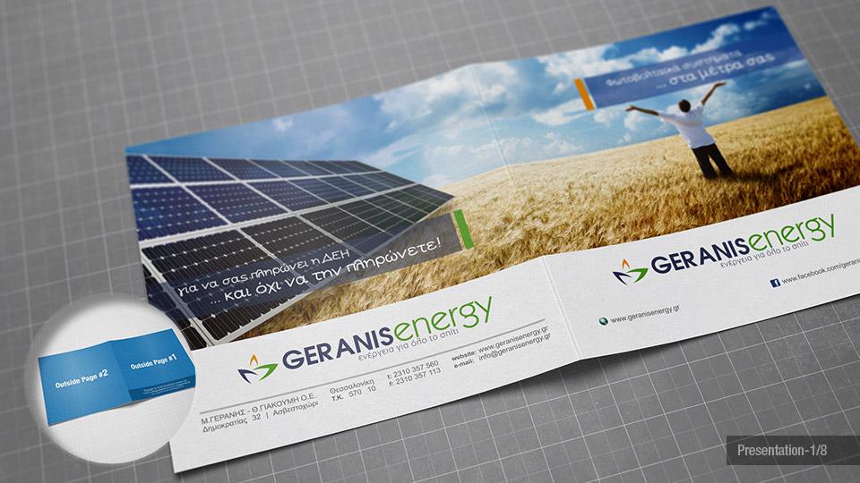 Square Bi-Fold Brochure Mock-Up